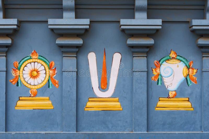 Travail de détail dans Gopuram, temple hindou Kapaleeshwarar , Chennai, T images stock