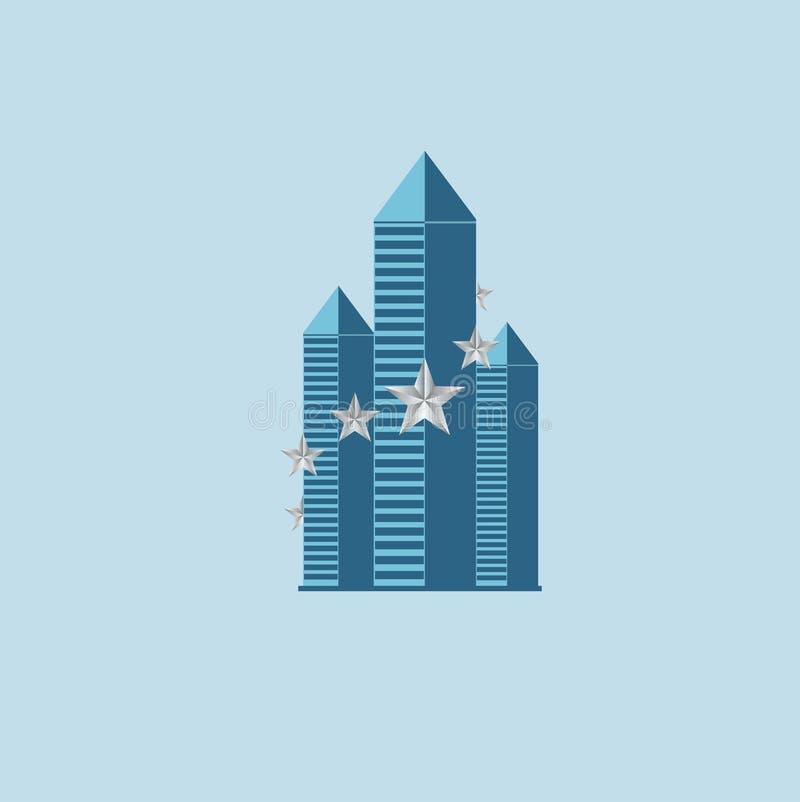 Travail de logo d'immobiliers illustration de vecteur