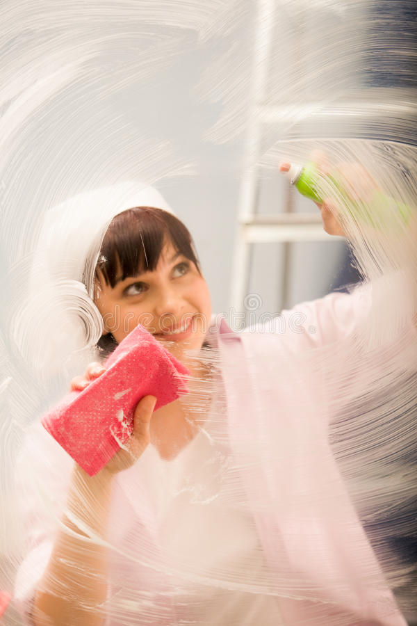 Travail de nettoyage photos stock