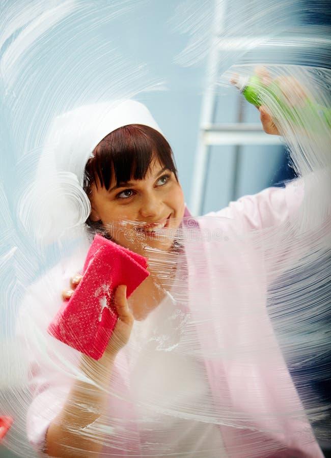 Travail de nettoyage photos libres de droits