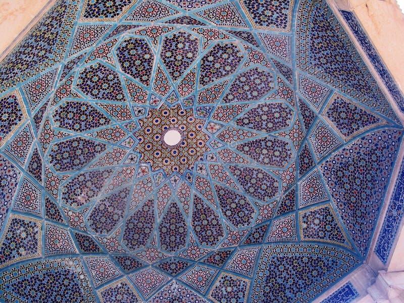 Travail de tuile, tombeau de Hafez, Iran images libres de droits