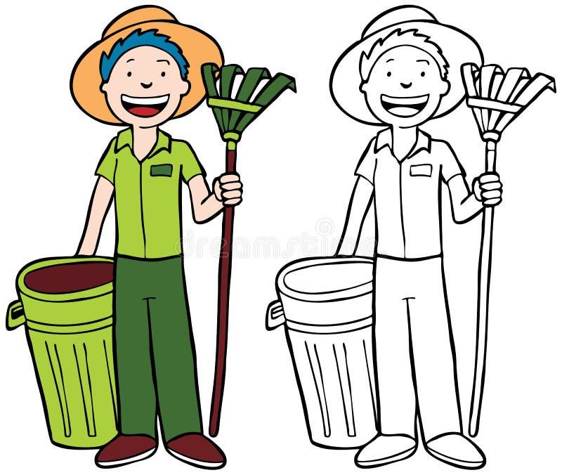 Travail de yard illustration stock