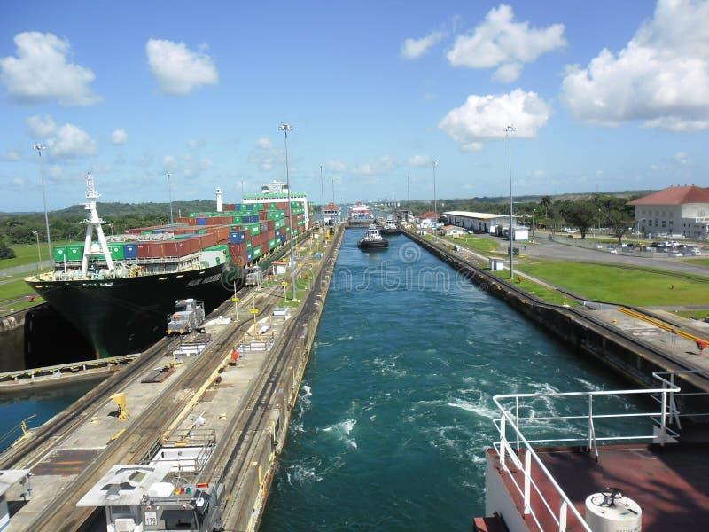 Travail du canal de Panama photos stock