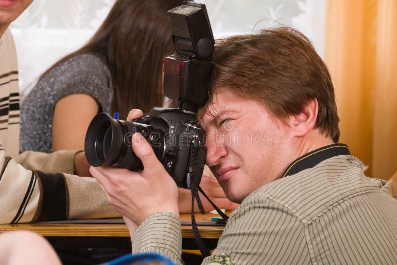 Travail du photographe. photographie stock libre de droits