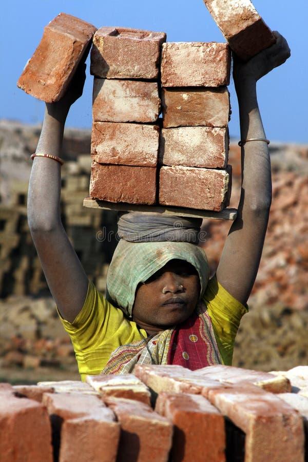 Travail dur en Inde photo libre de droits