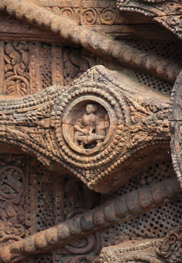 Travail en pierre chez Konark Temple-23 image libre de droits