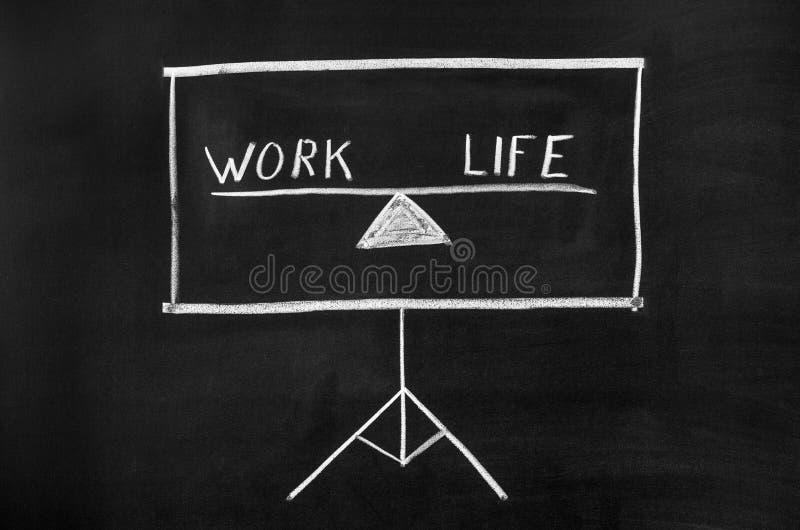 Travail et vie images stock
