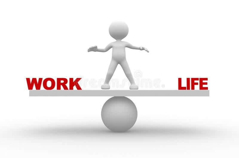 Travail et vie illustration stock