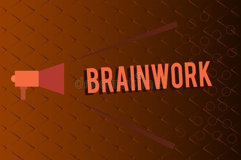 Travail intellectuel conceptuel d'apparence d'écriture de main Texte de photo d'affaires décrit en tant que l'activité mentale et illustration de vecteur