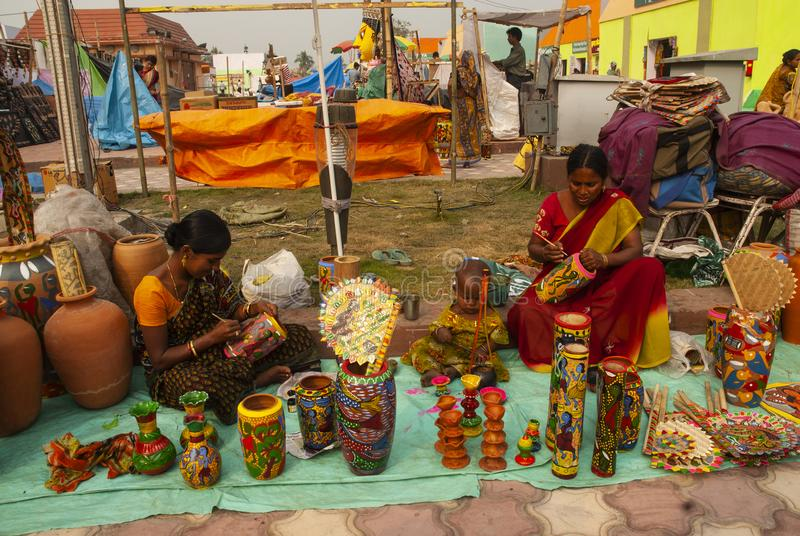 Travail manuel, le Bengale-Occidental, Inde images libres de droits