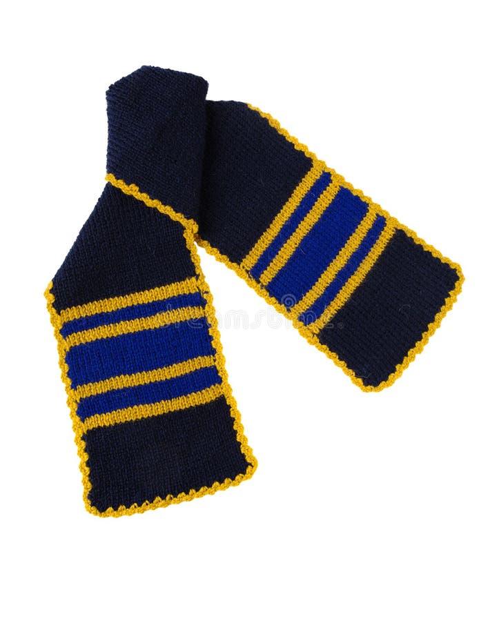 Travail manuel tricoté par écharpe Écharpe de laine colorée photo libre de droits