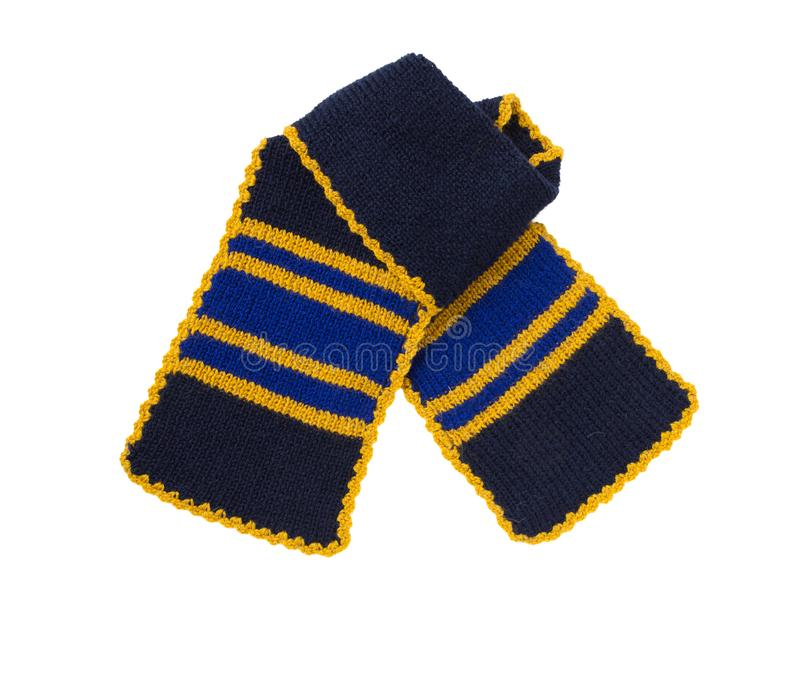 Travail manuel tricoté par écharpe Écharpe de laine colorée image stock