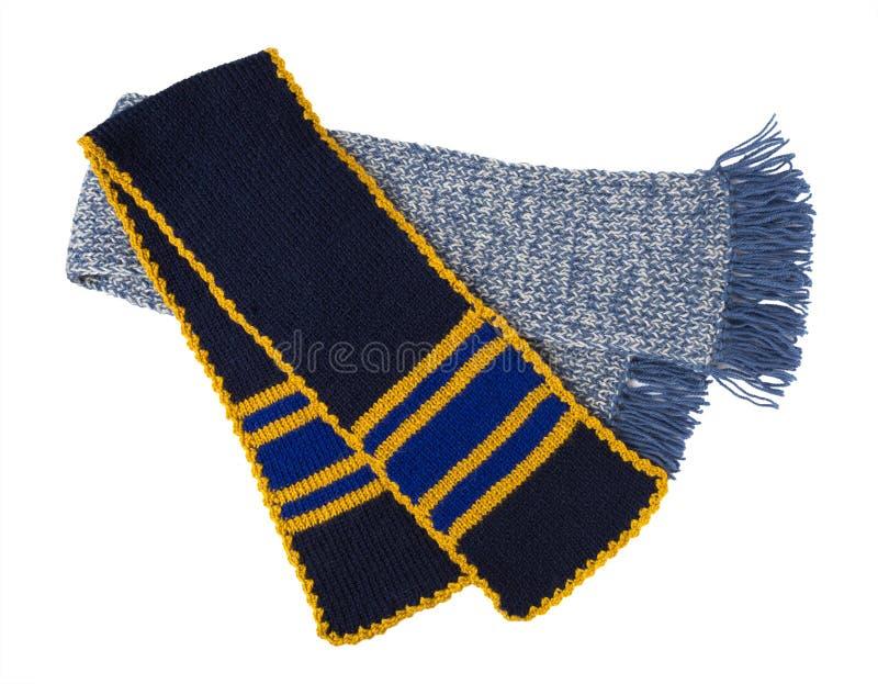Travail manuel tricoté par écharpe Écharpe de laine colorée photographie stock libre de droits