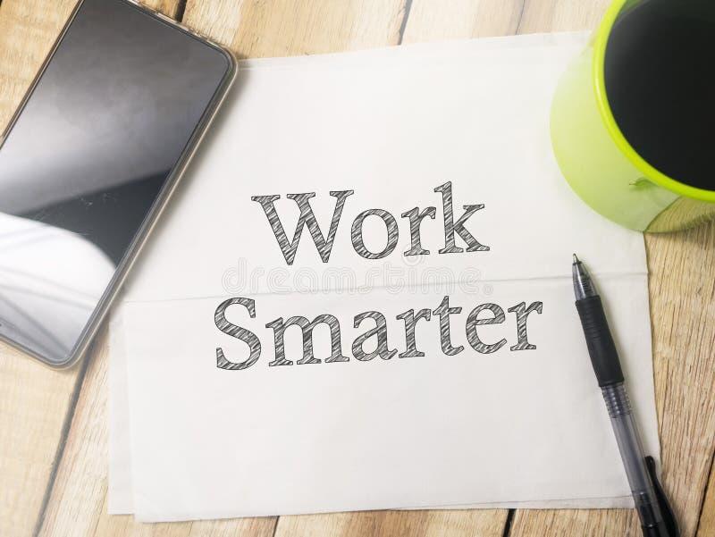 Travail plus futé Citations inspirées de motivation images stock