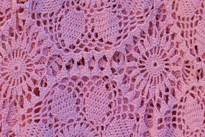 Travail rose de crochet images stock