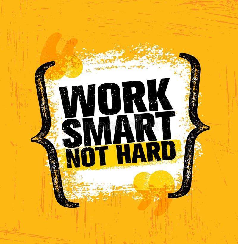 Travail Smart non dur Calibre créatif de inspiration d'affiche de citation de motivation Conception de bannière de typographie de