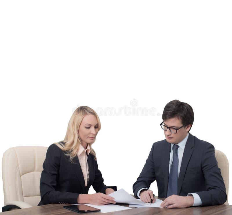 Travailler d'hommes d'affaires images stock