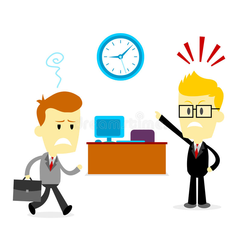 Travailler tard illustration libre de droits