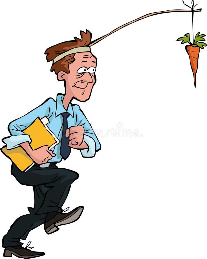 Travailleur avec la carotte illustration stock
