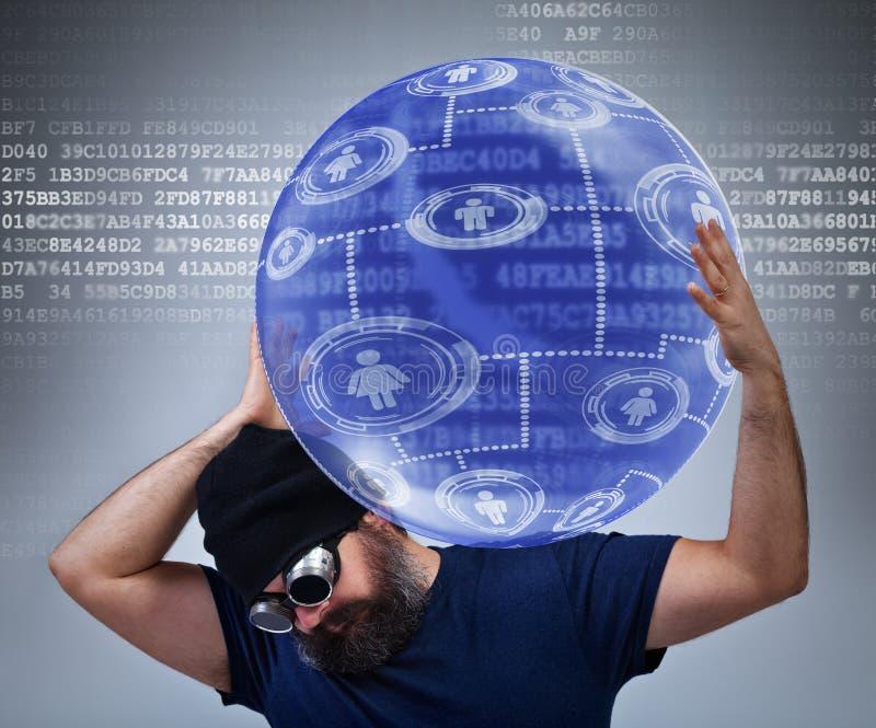 Travailleur d'assistance technologique de l'information photo libre de droits
