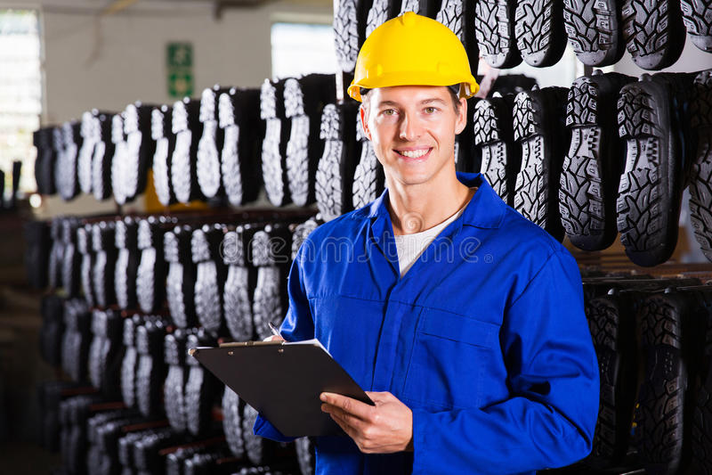 Travailleur d'entrepôt d'usine photos stock