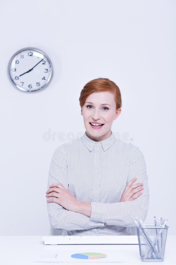 Travailleur d'entreprise heureux images libres de droits