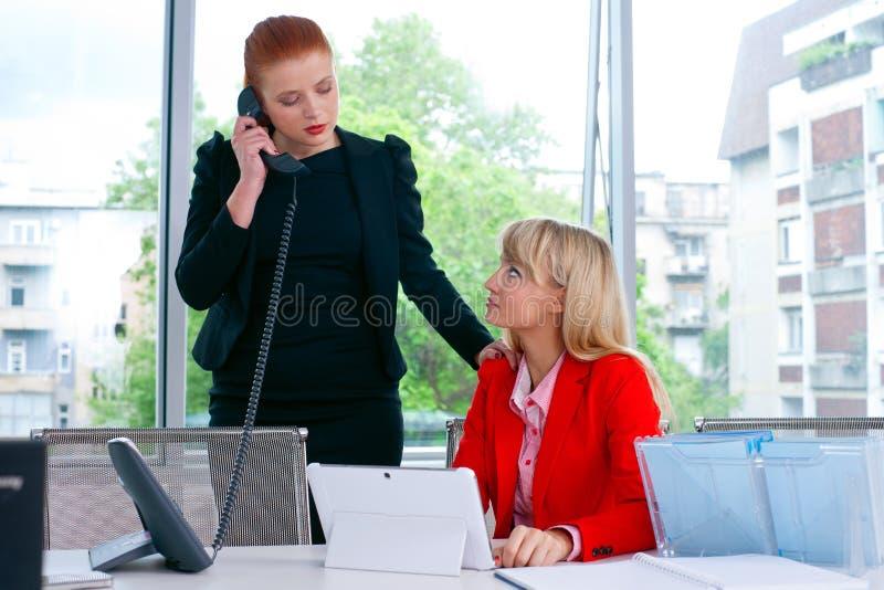 Download Travailleur De Deux Collègues Dans Le Bureau Avec L'ordinateur Image stock - Image du élégance, dame: 45366717