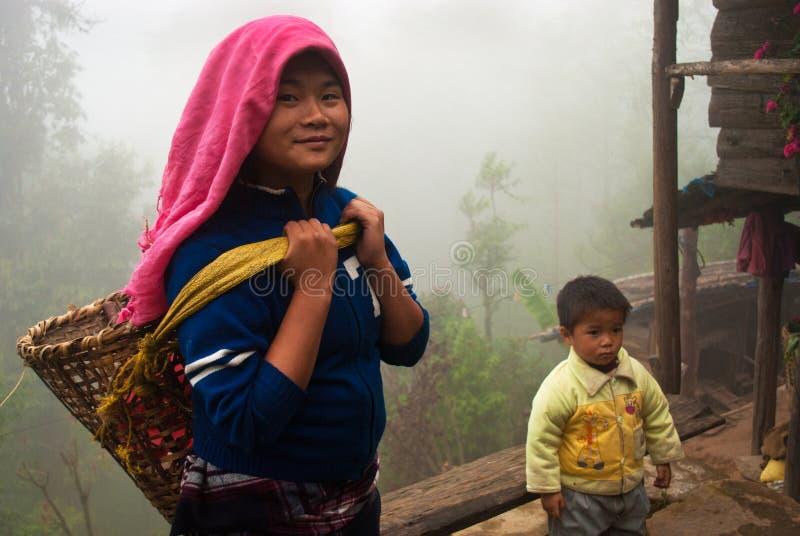 Travailleur de jardin de thé de Lepcha photo libre de droits
