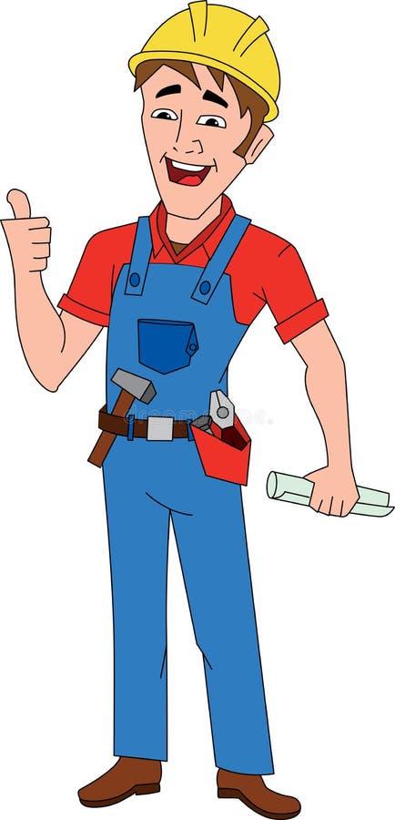 Travailleur de la construction illustration de vecteur