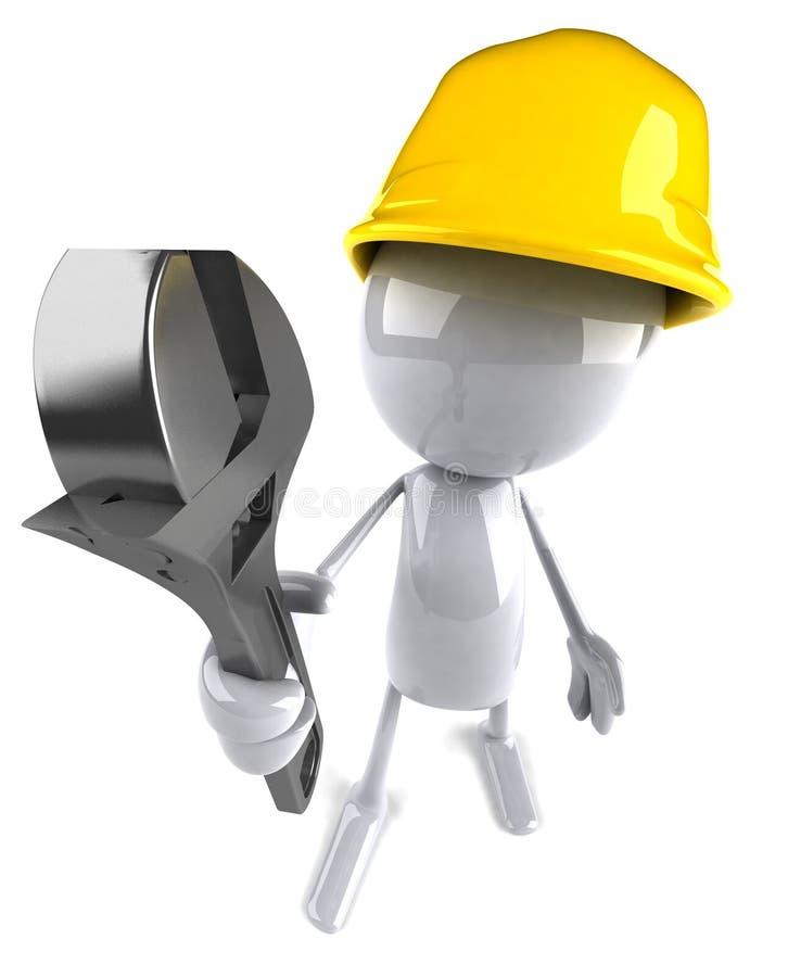 travailleur de la construction illustration stock