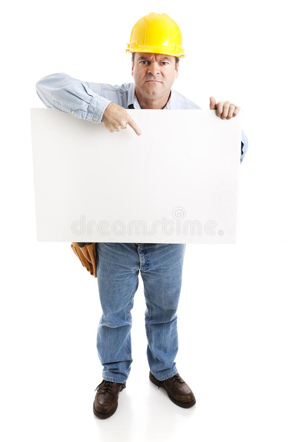 Travailleur de la construction - en grève photo stock