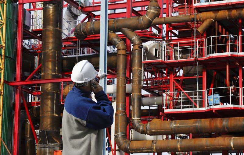 Travailleur de la construction et construction indutry photographie stock libre de droits
