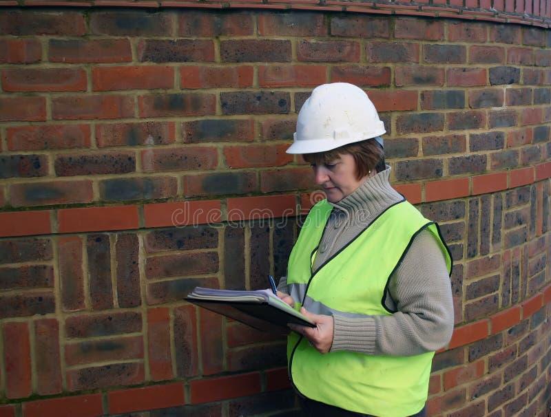Travailleur de la construction féminin 2 photographie stock libre de droits