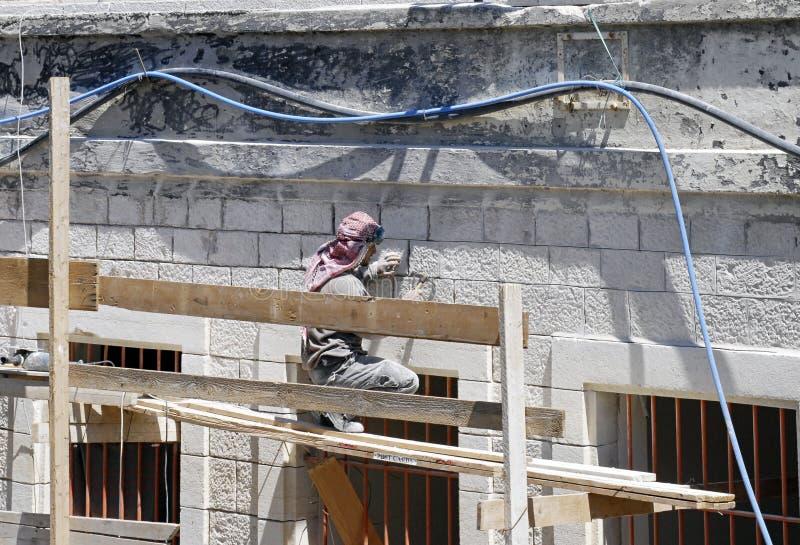 Travailleur de la construction, Jérusalem images libres de droits