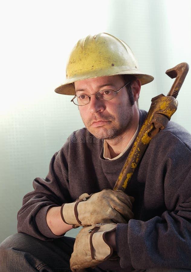 Travailleur de la construction mâle photo stock