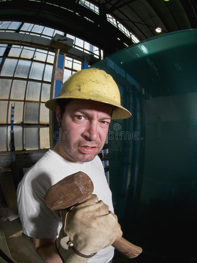 Travailleur de la construction mâle photographie stock
