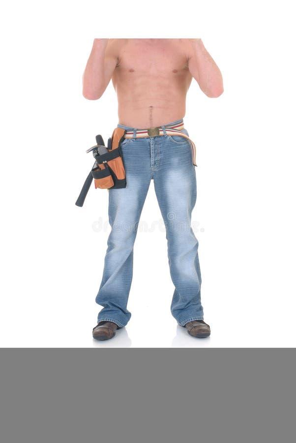 Travailleur de la construction macho photo libre de droits