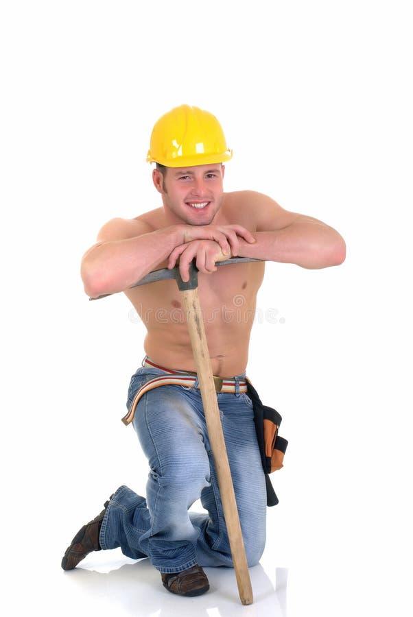 Travailleur de la construction macho images libres de droits