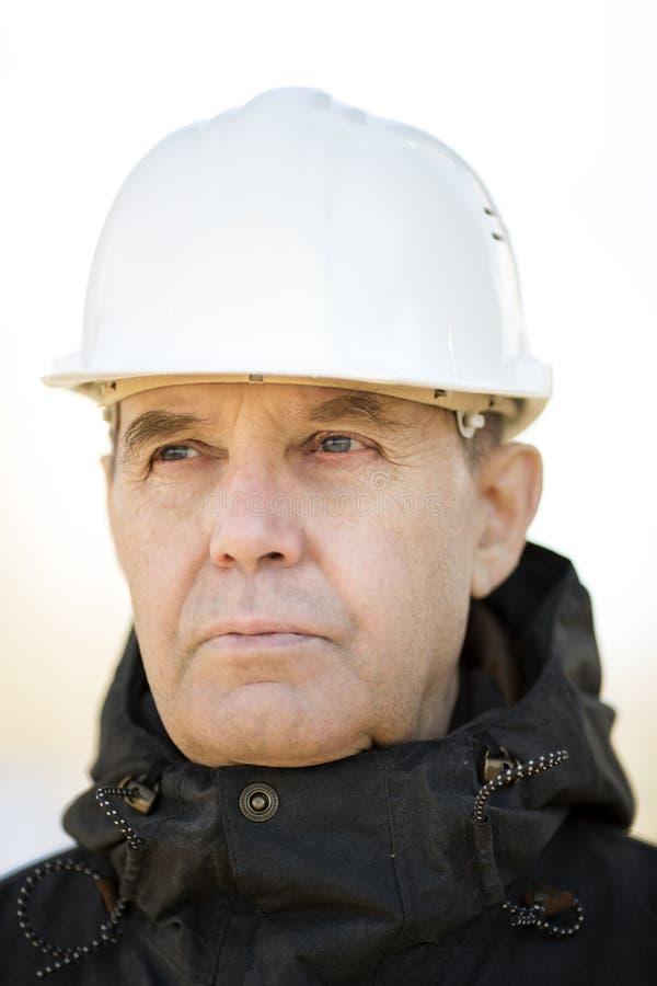 Travailleur de la construction Portrait photographie stock
