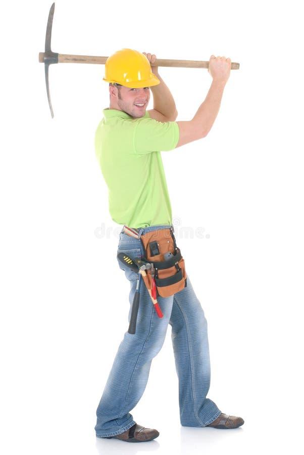 Travailleur de la construction réussi image stock