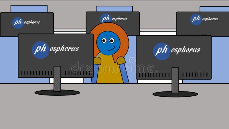 Travailleur informatique à leur travail image libre de droits