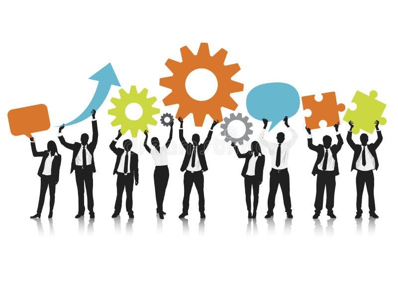 Travailleur Team Social Network Concept de local commercial illustration stock