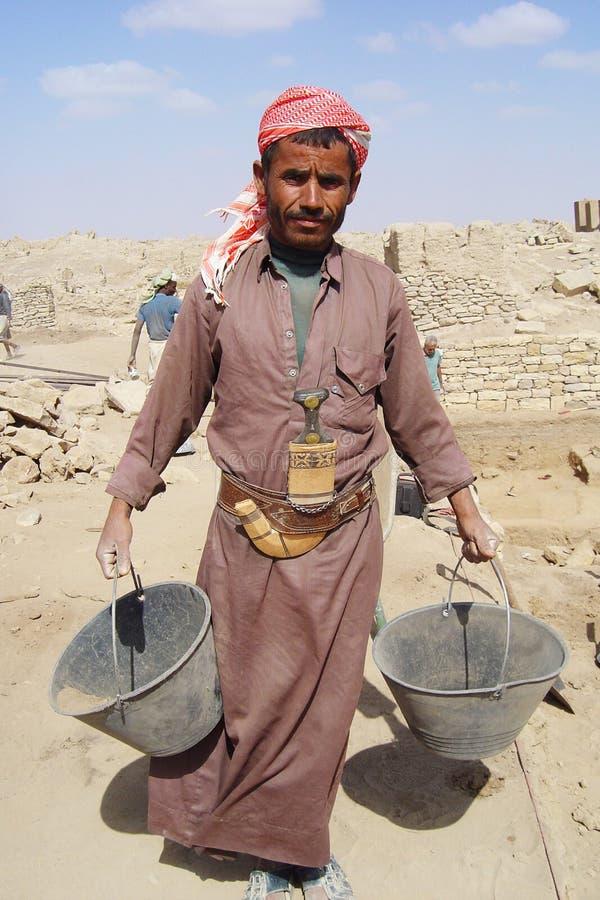 Travailleur yéménite photographie stock