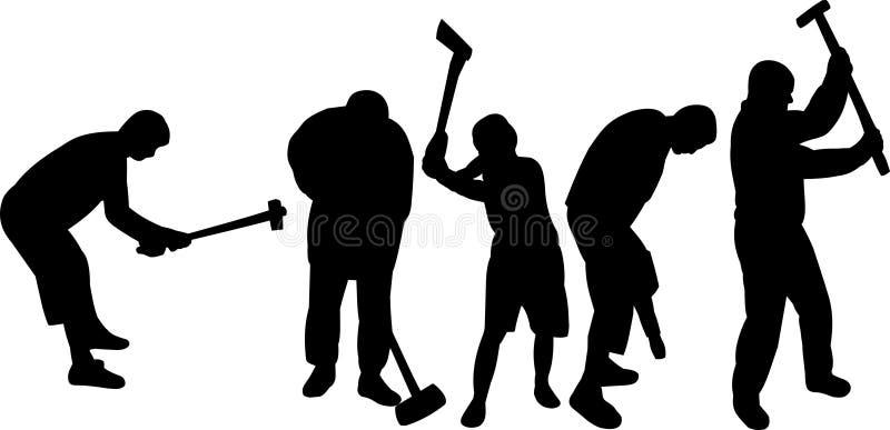 Travailleurs photo libre de droits