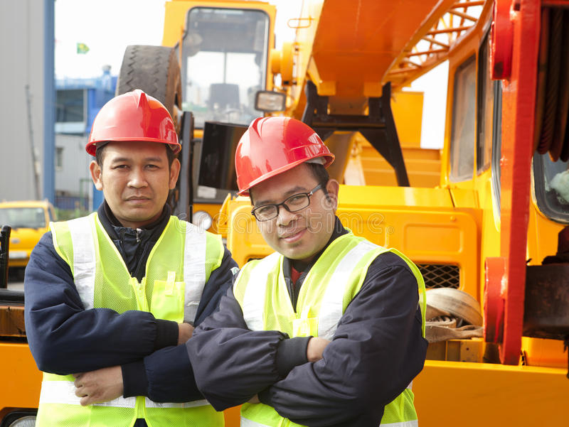 Travailleurs de la construction images stock