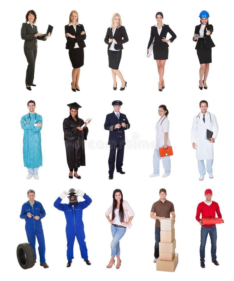 Travailleurs professionnels, homme d'affaires, cuisiniers, médecins, photographie stock libre de droits