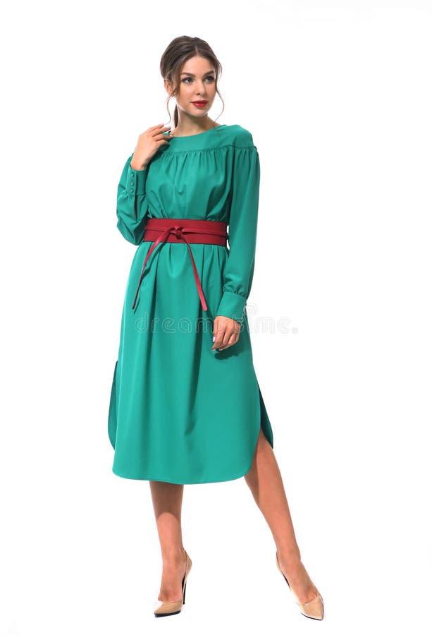 Travaillez comme employé la femme d'affaires de directeur dans la robe de Parti Vert formelle s photo libre de droits