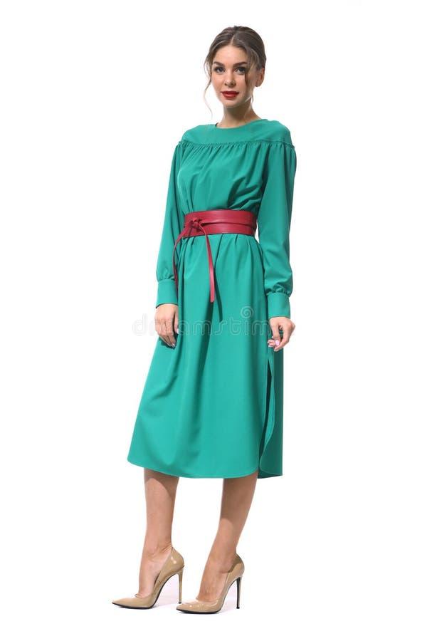 Travaillez comme employé la femme d'affaires de directeur dans la robe de Parti Vert formelle s images libres de droits
