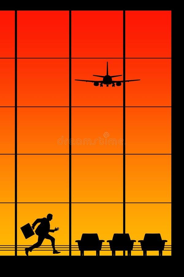 Travando um vôo ilustração stock