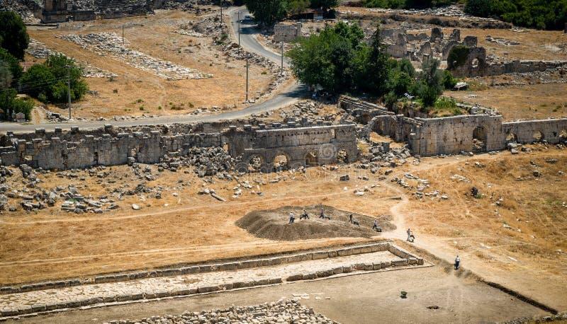 Travaux archéologiques image libre de droits